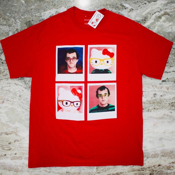 98926d44a Hello Kitty Shirts | X Keith Haring Collab Photo Unisex Tee | Poshmark